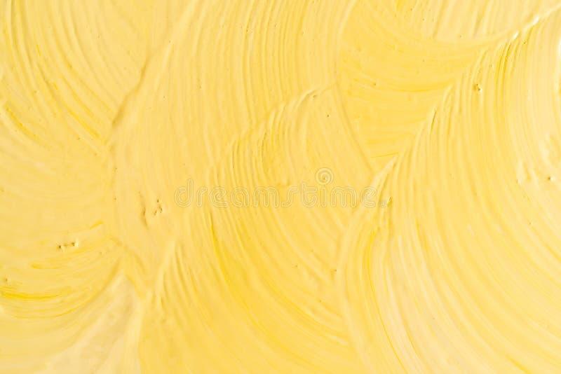 带画笔描边的黄色背景 库存图片