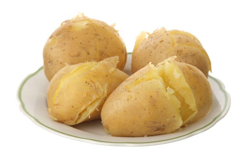 带皮烤的马铃薯 库存图片