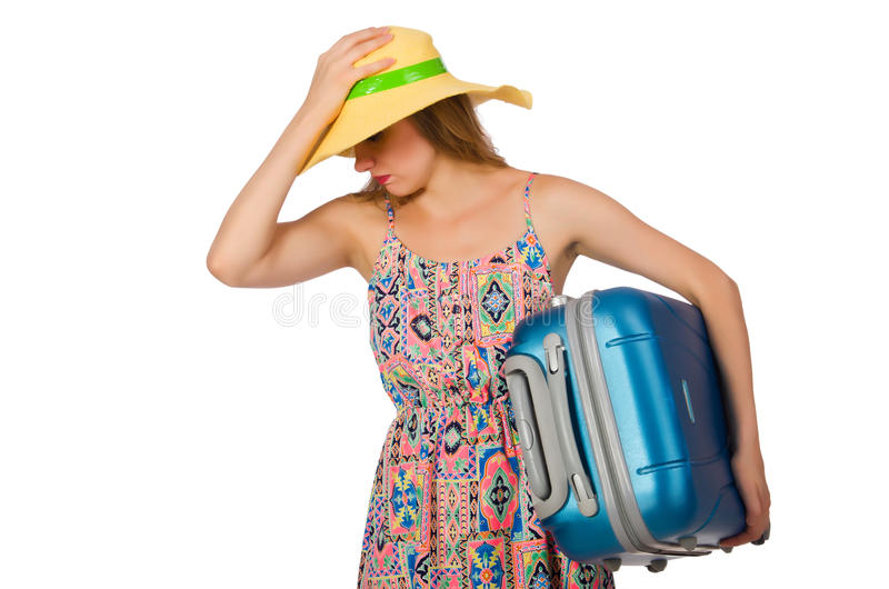 Download 带着在白色隔绝的手提箱的妇女 库存照片. 图片 包括有 沮丧, 激怒, 大量, 巴拿马, 查出, 被证章的 - 72361692