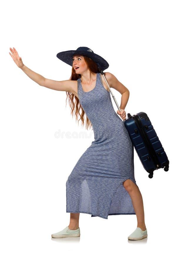 Download 带着在白色隔绝的手提箱的妇女 库存图片. 图片 包括有 alamos, 冒险家, 挑运, 捉住, 可怕, 巴格达 - 72365481