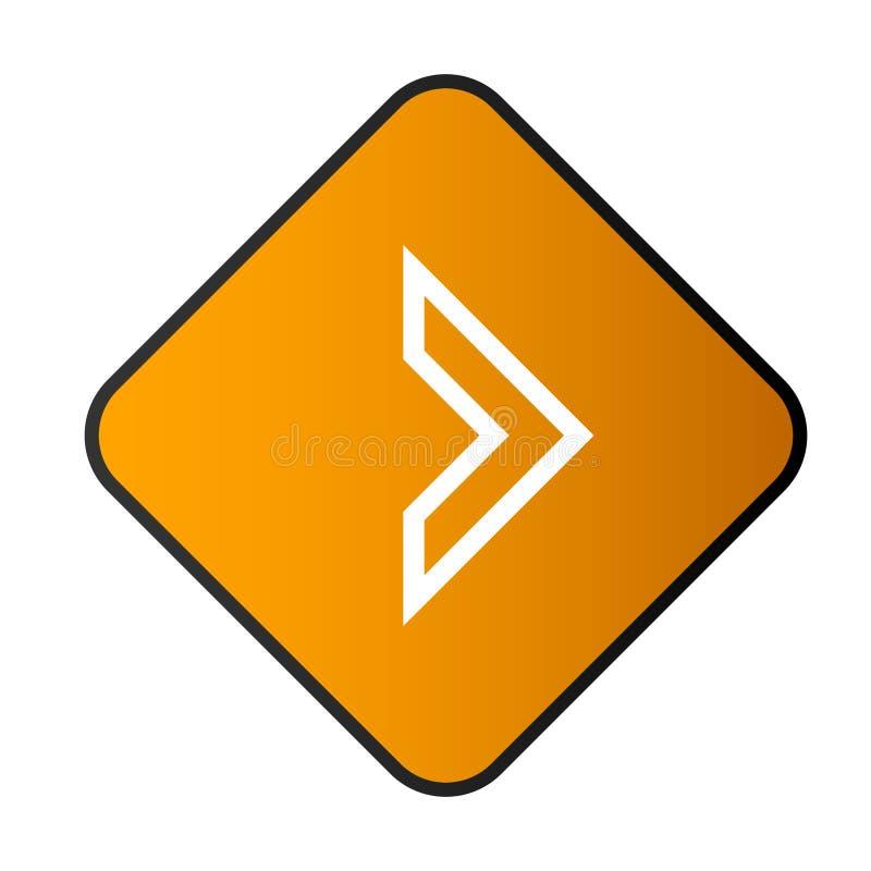 带矩形框架v的左箭头按钮 4 皇族释放例证