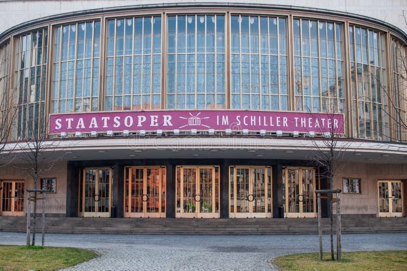 席勒剧院在柏林(德国) 库存照片