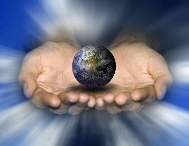 帮助的地球 免版税图库摄影
