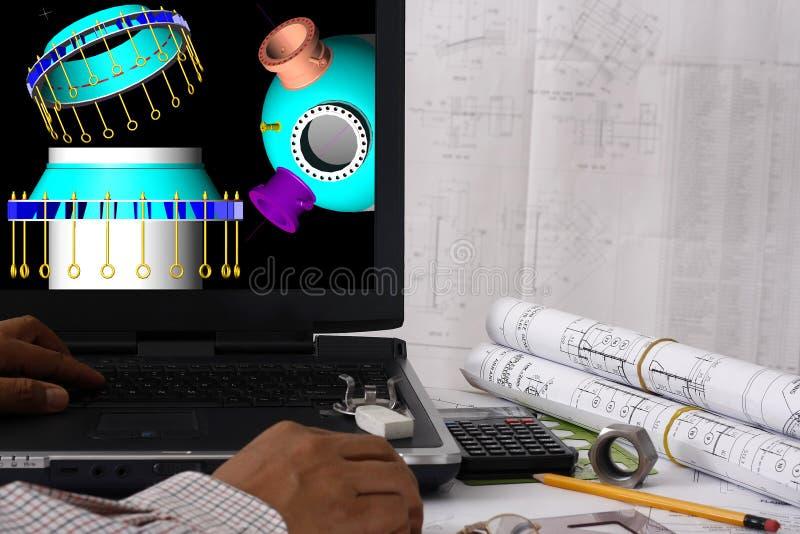帮助的计算机设计 免版税图库摄影