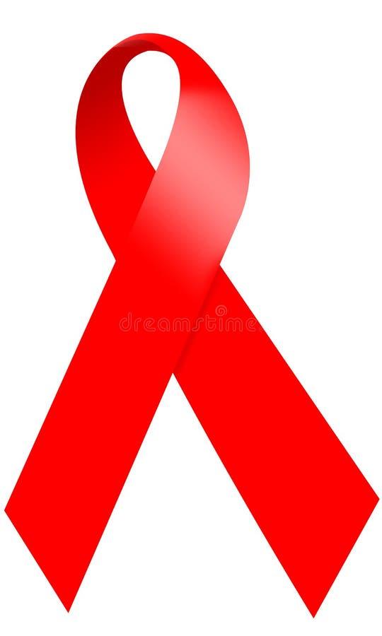 帮助知名度红色丝带 免版税库存图片