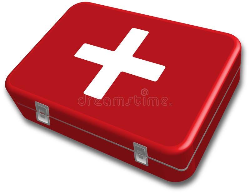 帮助配件箱第一个工具箱向量 免版税库存照片
