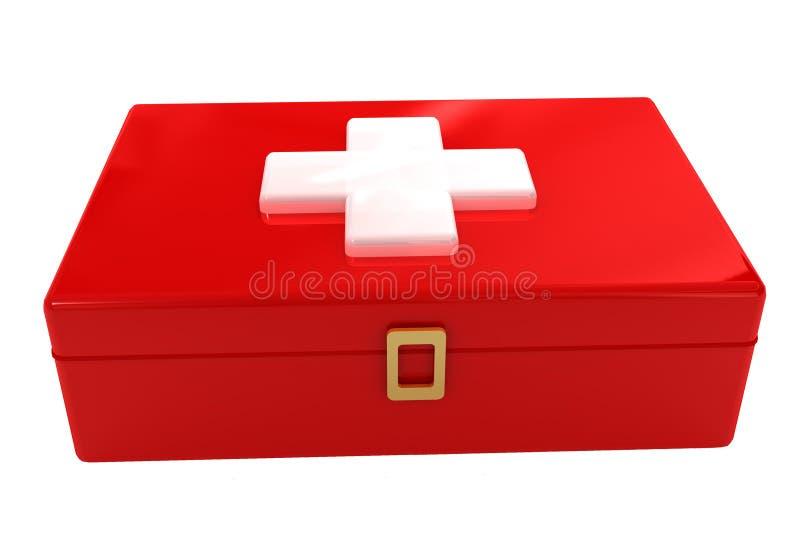 帮助配件箱第一个工具箱红色符号 免版税库存图片
