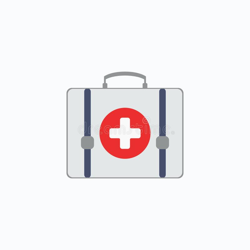 帮助首先查出的工具箱 健康、帮助和医疗诊断概念 也corel凹道例证向量 10 eps 皇族释放例证