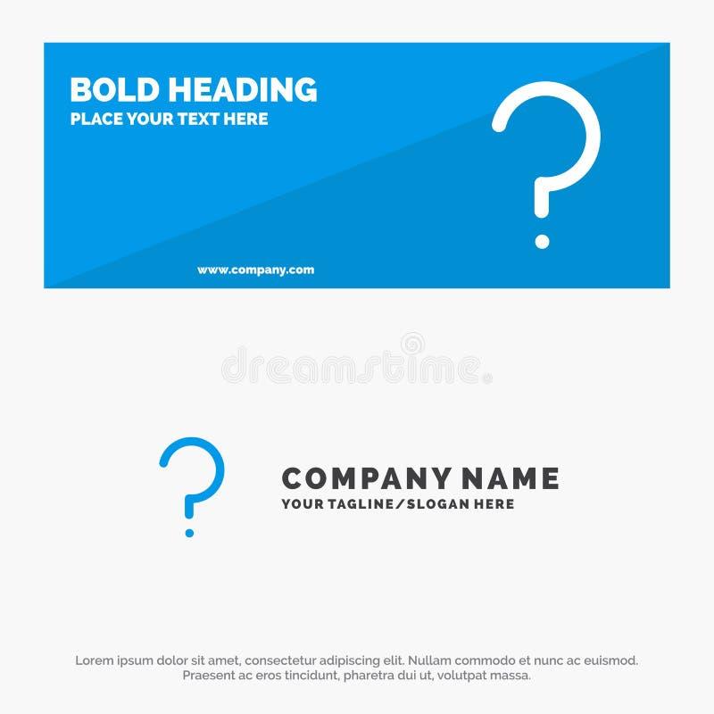 帮助,对,问号,标记坚实象网站横幅和企业商标模板表示怀疑 皇族释放例证