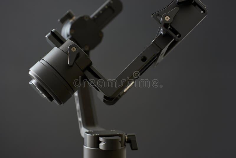 常平架安定器特写镜头,有黑背景 库存照片