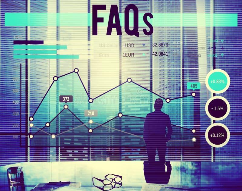 常见问题解答常见问题企业规划概念 免版税库存照片