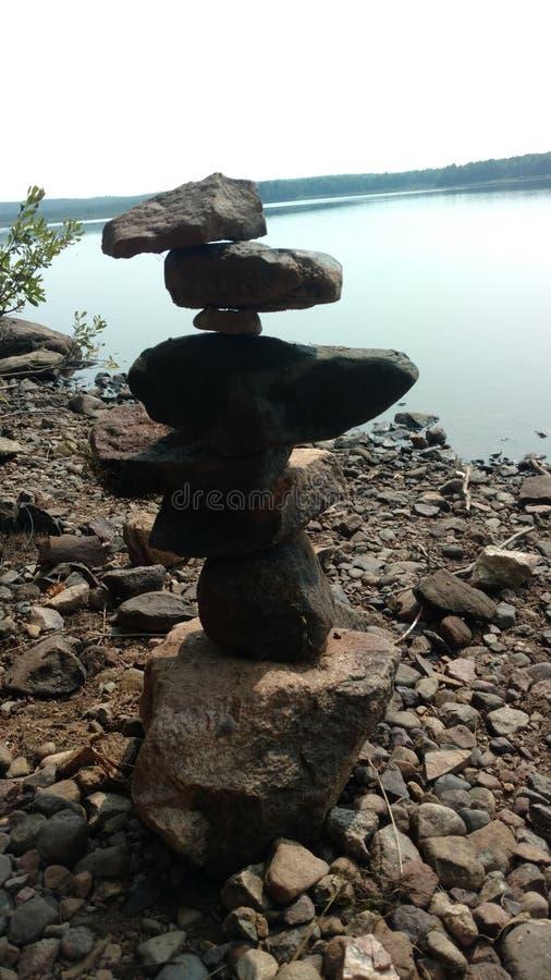 常设岩石视图 库存图片