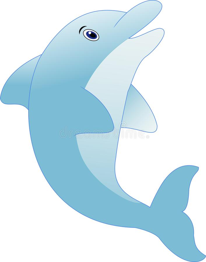 常设海豚动画片 向量例证