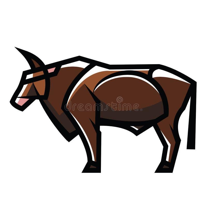 常设自然颜色公牛 库存例证