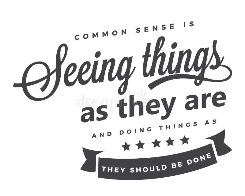 常识看事物,当他们是,并且做事,当他们应该完成 向量例证