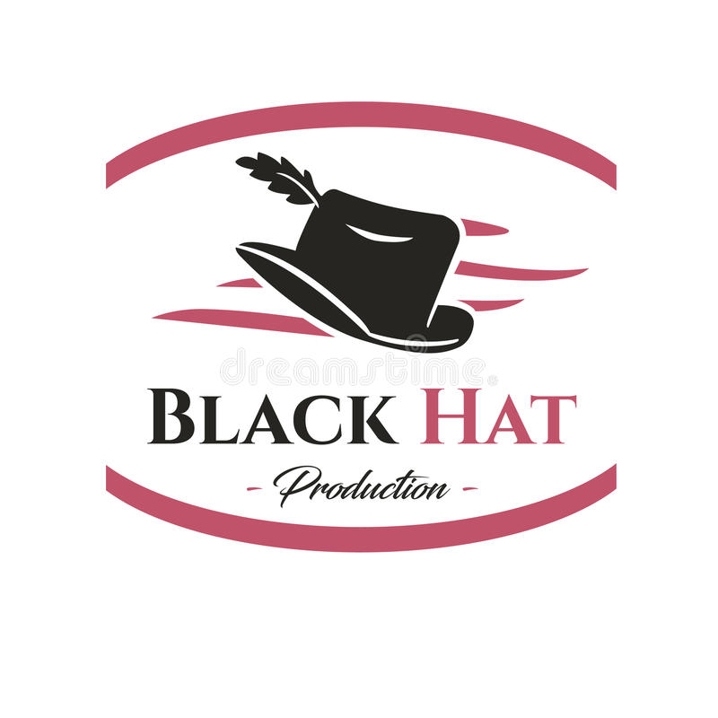 黑帽会议商标 生产 免版税库存照片