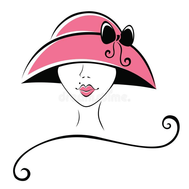 帽子丝带妇女 库存例证