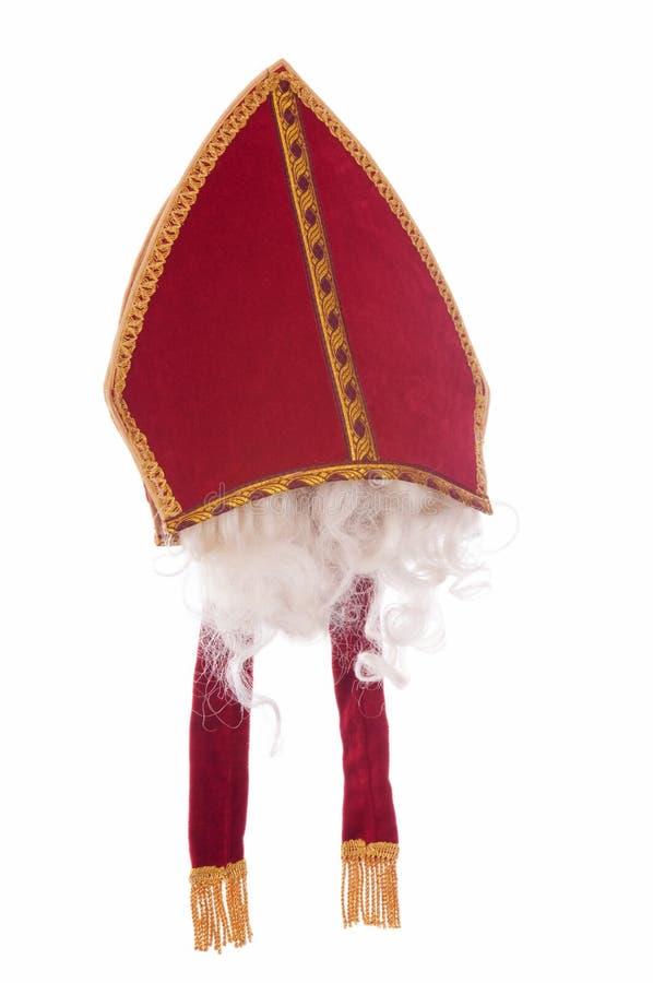 帽子主教尼古拉斯圣徒 免版税库存照片