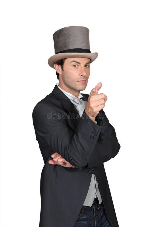 帽子人佩带 库存照片
