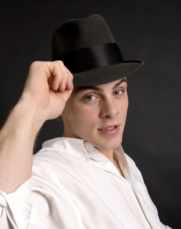 帽子他的技巧 库存照片