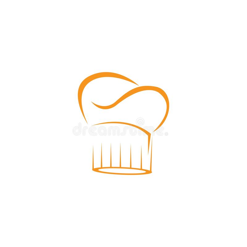 帽子厨师商标模板 皇族释放例证