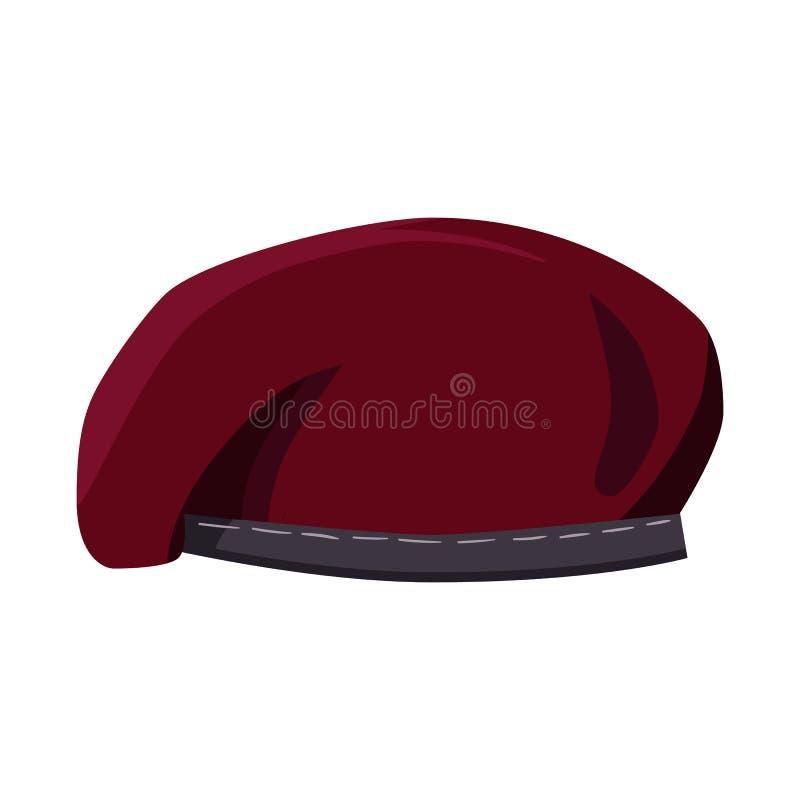 帽子和特攻队标志被隔绝的对象  帽子和衣裳储蓄传染媒介例证的汇集 皇族释放例证