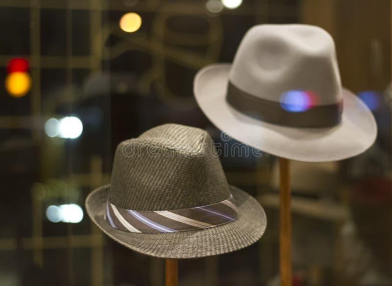 帽子夜 免版税库存图片