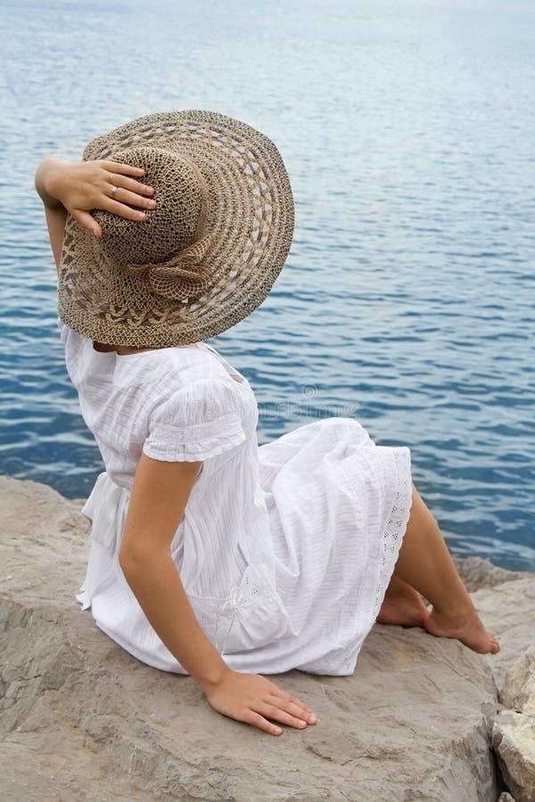 帽子女孩年轻人 库存图片