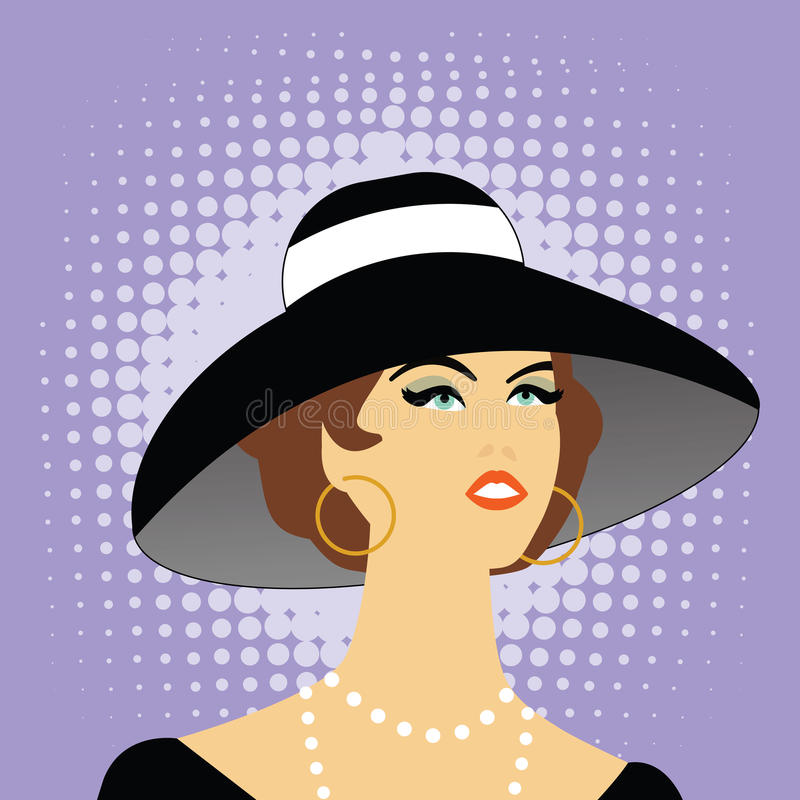 帽子妇女 库存例证