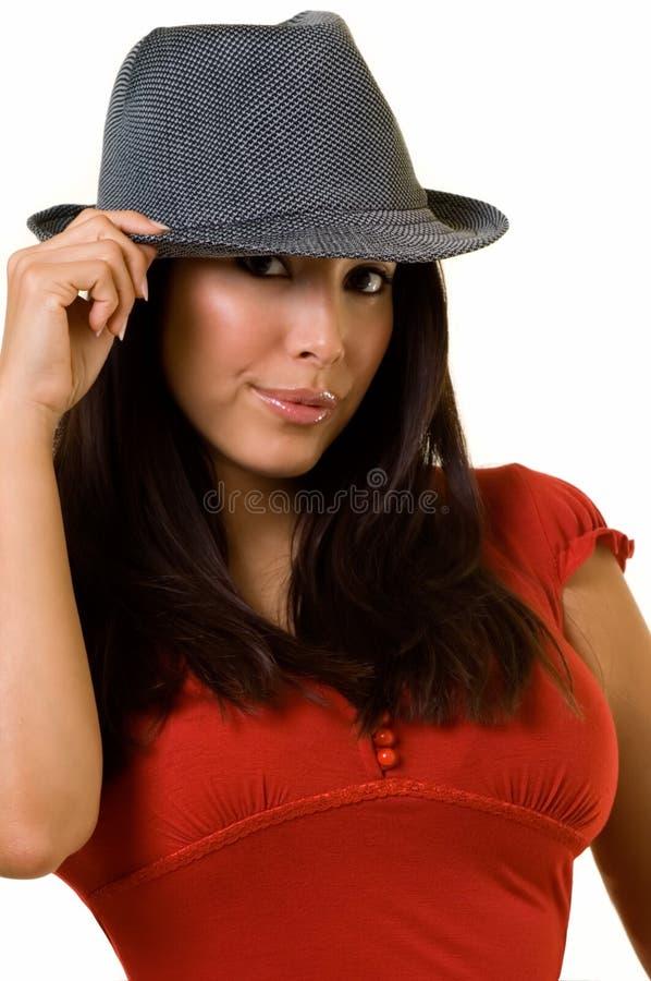 帽子妇女 库存照片