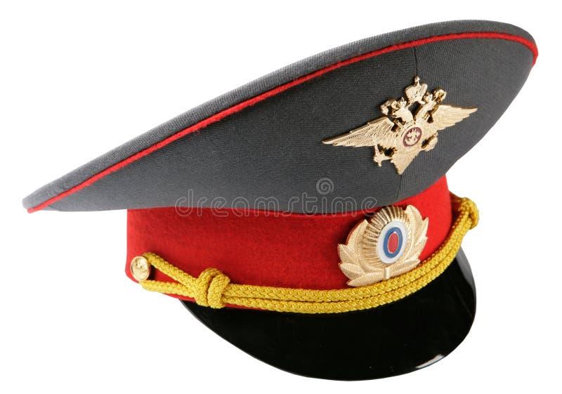 帽子官员警察俄语 库存照片