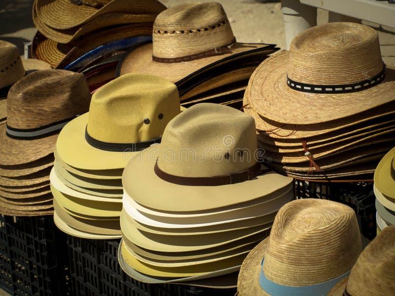 帽子待售 免版税库存照片