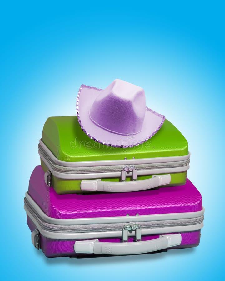 帽子手提箱 库存图片