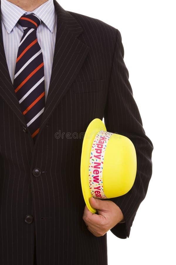 帽子新年度黄色 图库摄影