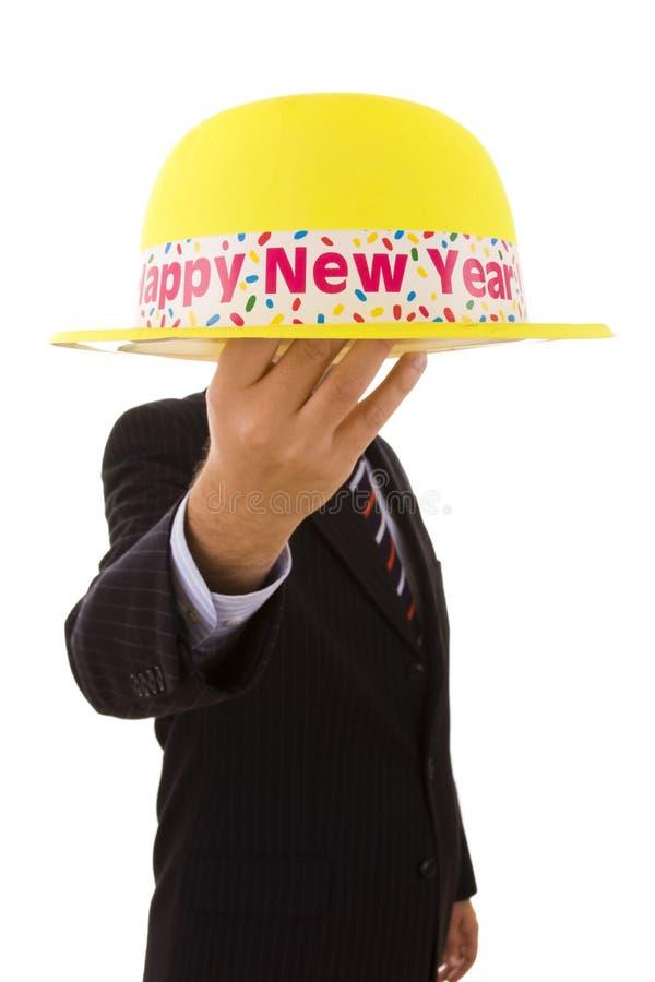 帽子新年度黄色 库存图片