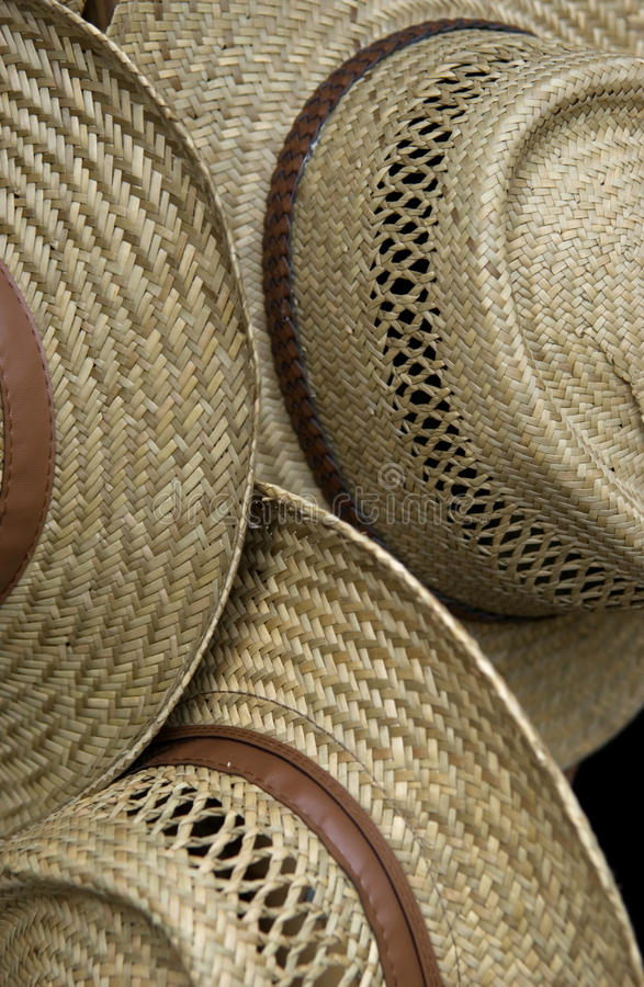 帽子模式秸杆 库存照片