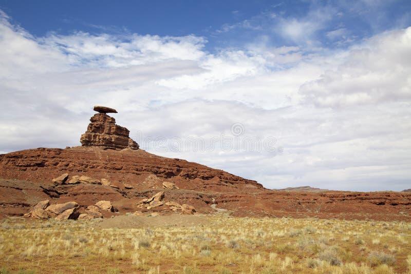 帽子横向墨西哥岩石 免版税库存照片