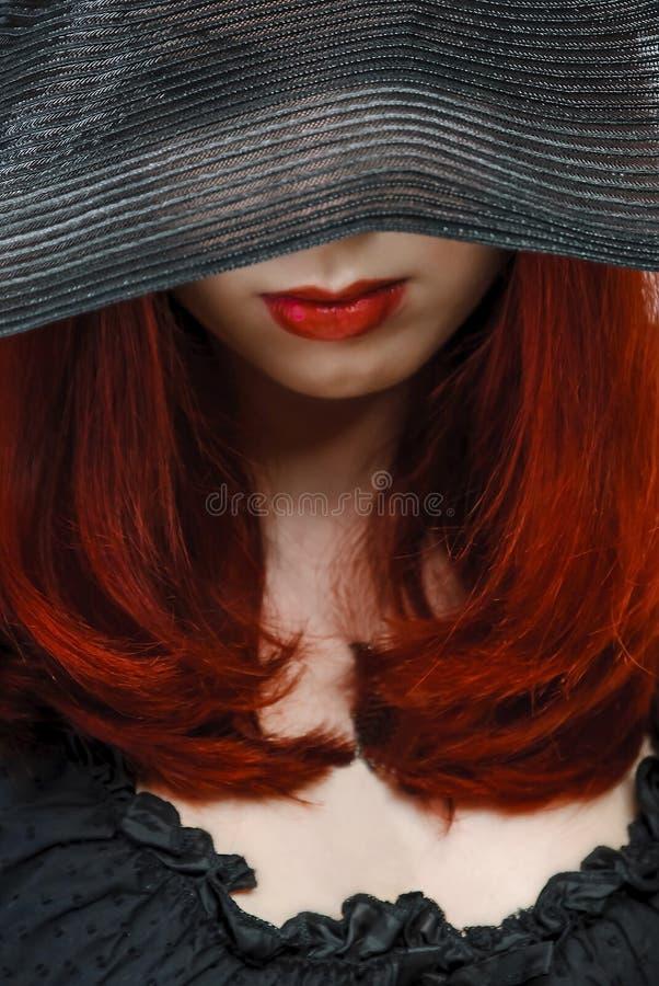 帽子的妇女 库存照片