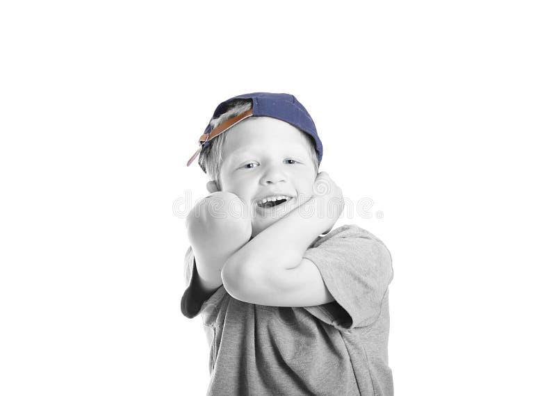 帽子的小男孩 免版税图库摄影