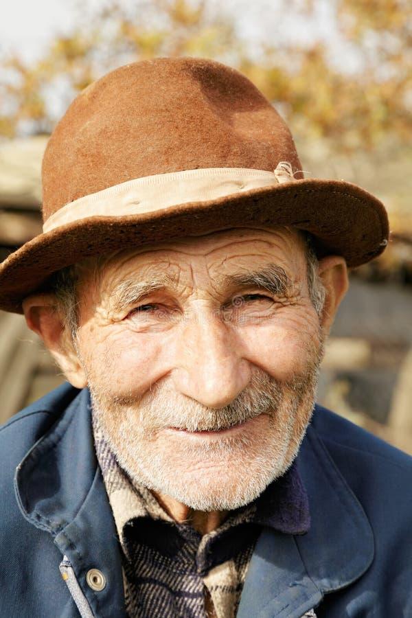 帽子的正老人 库存图片