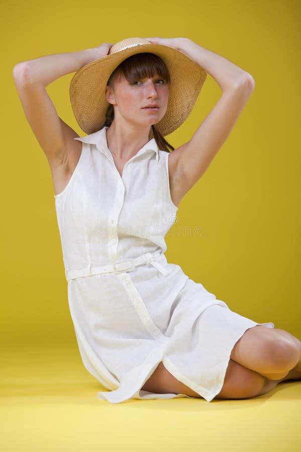 帽子纵向妇女 库存图片