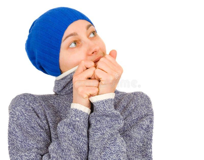 帽子纵向妇女 免版税库存照片
