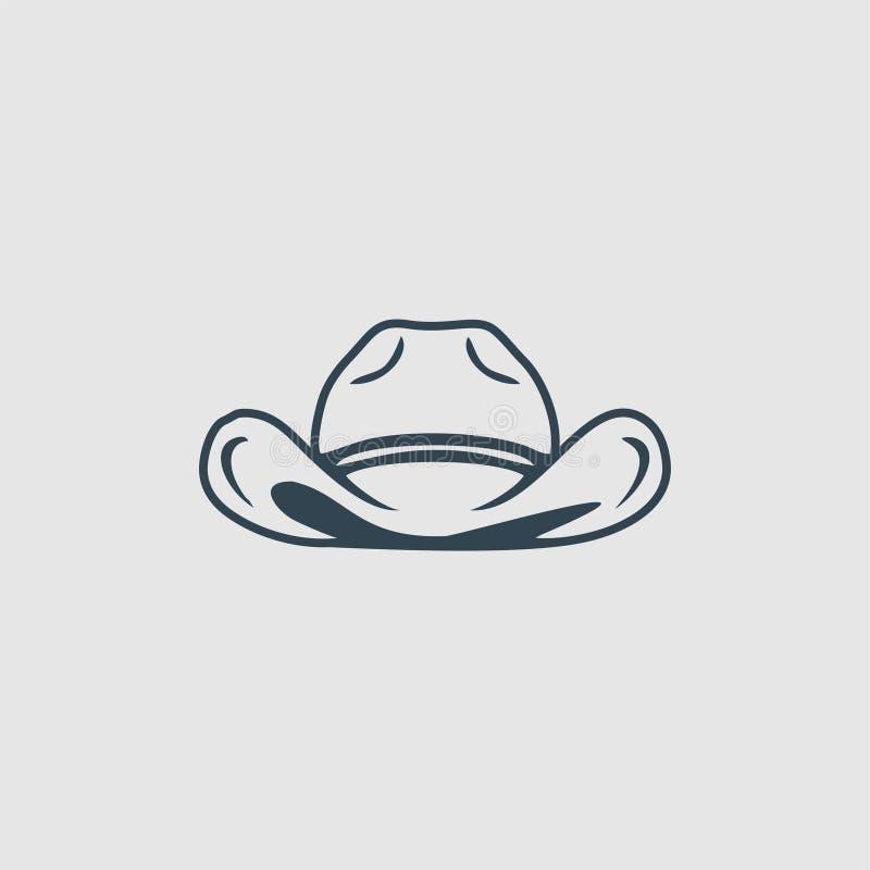 帽子组合图案商标启发 库存例证
