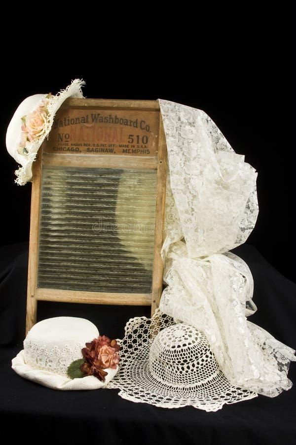 帽子葡萄酒洗衣板 免版税库存照片