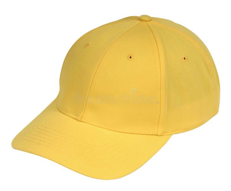 帽子黄色 免版税库存图片