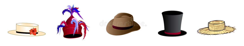 帽子 皇族释放例证
