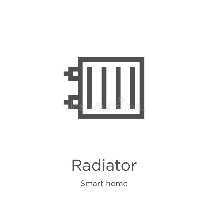 幅射器从聪明的家庭收藏的象传染媒介 稀薄的线幅射器概述象传染媒介例证 概述,稀薄的线幅射器 向量例证