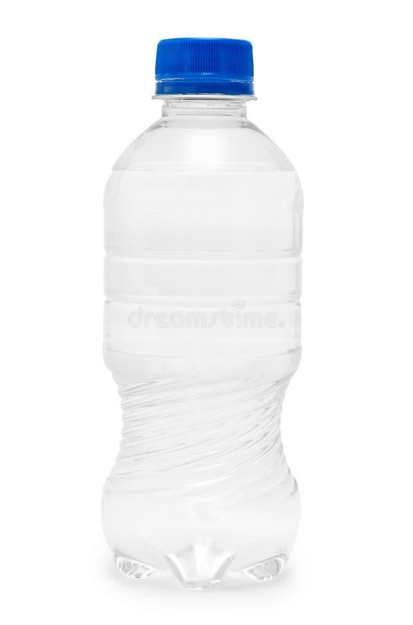 干净和淡水在塑料瓶包装了 背景查出的白色 库存照片