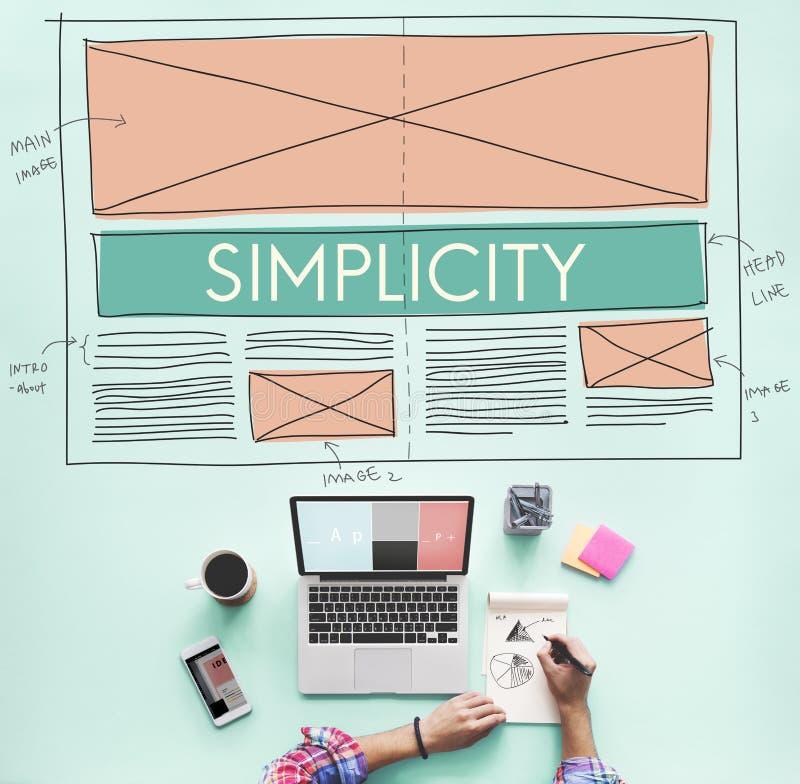 朴素干净的清楚的最小的正常简单的概念 免版税库存照片