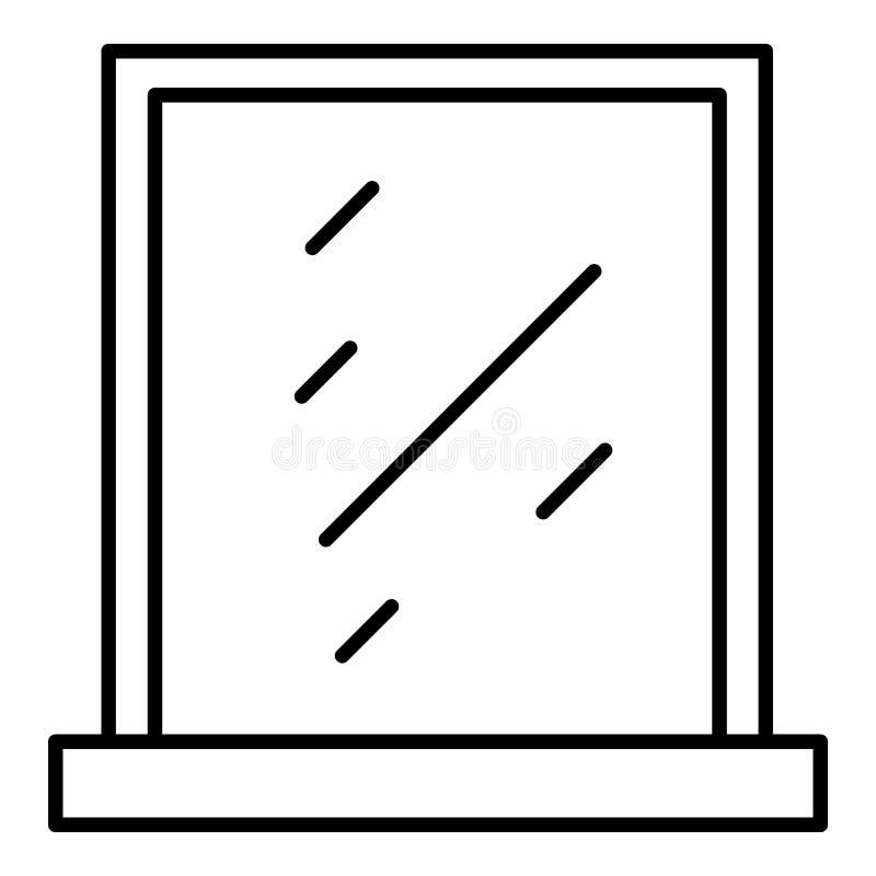 干净的窗口象,概述样式 皇族释放例证
